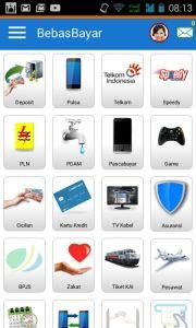 Aplikasi yang tersedia di hp android
